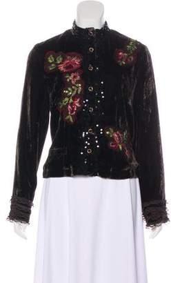 Alberto Makali Velvet Embroidered Jacket