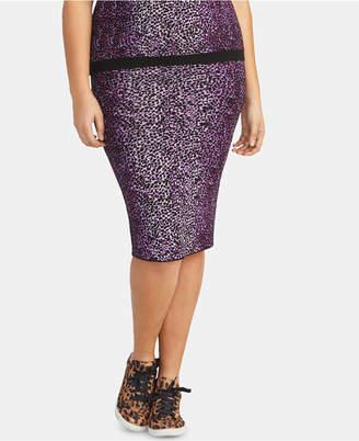Rachel Roy Plus Size Tia Leopard-Print Skirt