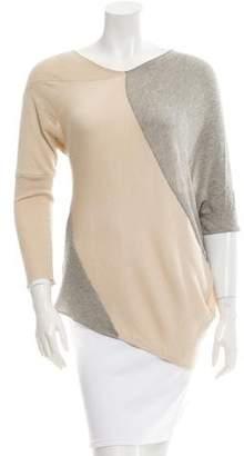 Yigal Azrouel Silk Blend Three-Quarter Sleeve Sweater