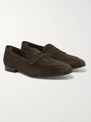 Tod's Suede Penny Loafers - Men - Brown