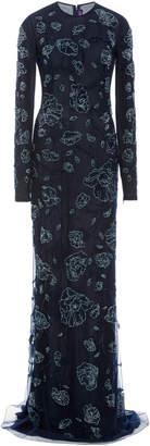 Ralph Lauren Beaded Hamlin Evening Dress