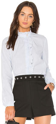 RED Valentino Ruffle Hem Shirt
