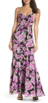 Fame & Partners The Sienne Cutout Waist Gown