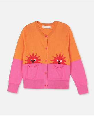 Stella McCartney Hedgehogs Cotton-Wool Cardigan