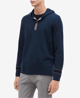 Calvin Klein Men's Pullover Placket Hoodie