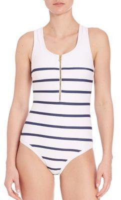 HEIDI KLEIN One-Piece Nantucket Binding Racerback Swimsuit $315 thestylecure.com