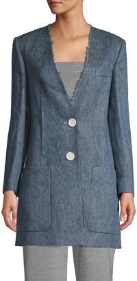 M Missoni Long Linen Blazer