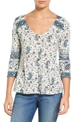 Women's Lucky Brand Paisley Swing Top $49.50 thestylecure.com