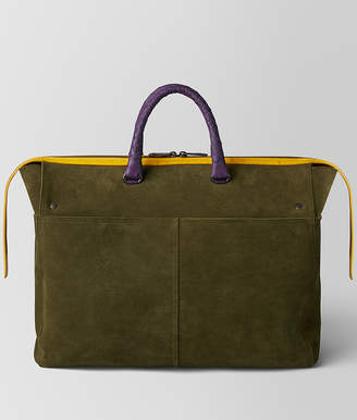 Bottega Veneta MULTICOLOR DOUBLE SUEDE DAY TOTE