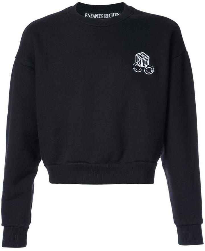 Enfants Riches Deprimes round neck cropped sweatshirt