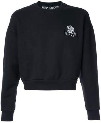 Enfants Riches Deprimes round neck cropped sweatshirt