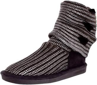 BearPaw Women's Knitallic Mid-Calf Wool Boot - 8M