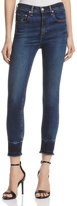 rag & bone/JEAN High Rise Capri Jeans in Stanwix $250 thestylecure.com