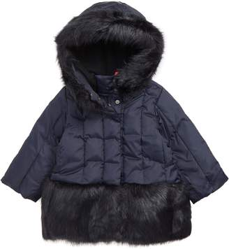 J.Crew crewcuts by Primaloft(R) Insulated Puffer Jacket with Faux Fur Trim