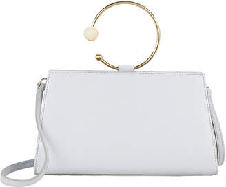 Intermix Adeam Art Frame Mini Hoop Blue Leather Bag