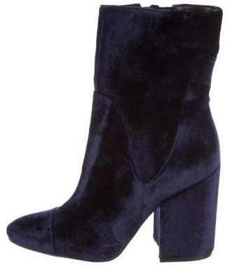 KENDALL + KYLIE Velvet Ankle Boots