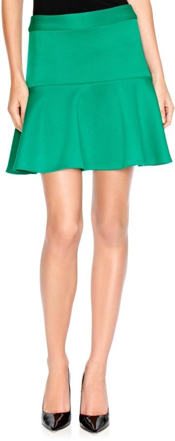 The Limited Forenza Flounce Ponte Mini Skirt