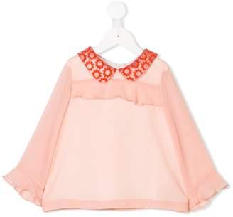 Hucklebones London contrast-collar blouse