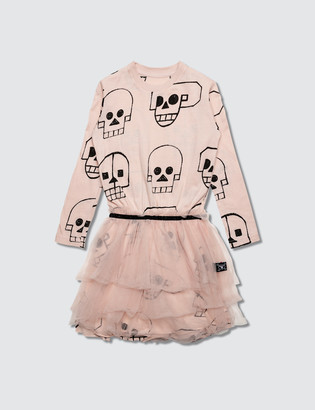 Nununu Skull Robot Tulle Dress