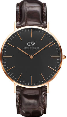 Daniel Wellington Classic Reading rose gold watch