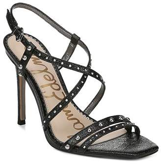 Sam Edelman Women's Lennox Studded Metallic Leather High-Heel Sandals