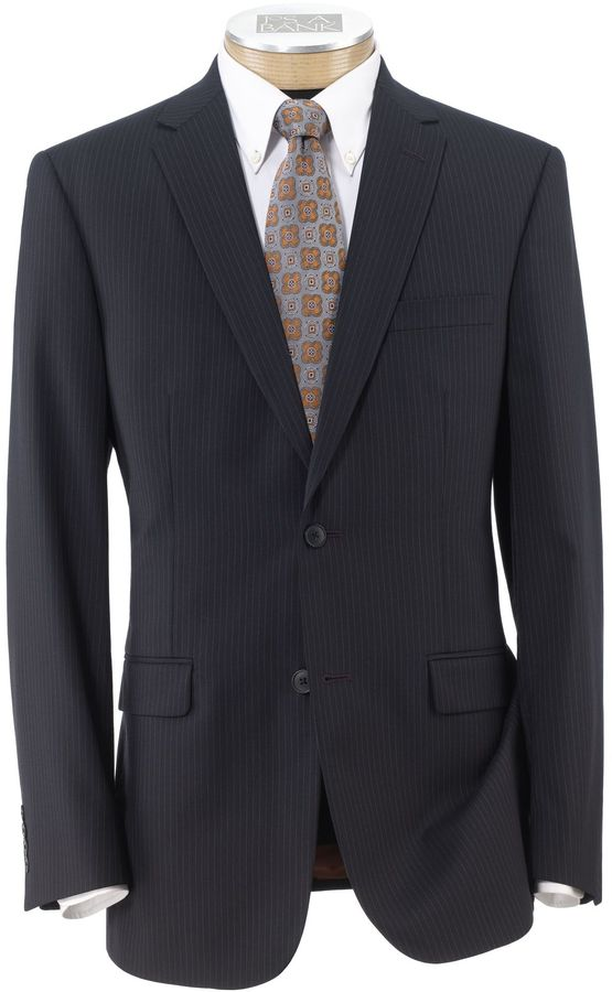 Jos. A. Bank Joseph Slim Fit 2-Button Suits with Plain Front Trousers Extended Sizes