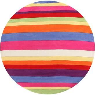 Bright Kids Candy Stripe Kids Round Rug, 120x120cm