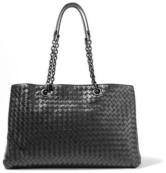 Bottega Veneta - Shopper Intrecciato Leather Tote - Black $3,350 thestylecure.com