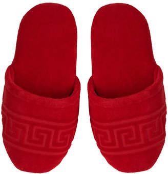 Versace Medusa Classic Jacquard Slippers - Red - Medium