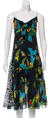 Marc Jacobs Sleeveless Printed Midi Dress