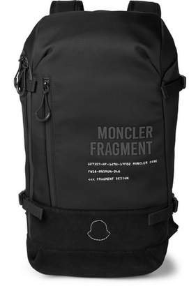 Moncler Genius 7 Fragment Suede-Trimmed Printed Shell Backpack
