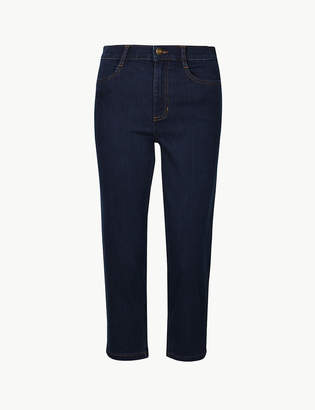 Marks and Spencer Mid Rise Straight Leg Cropped Jeans