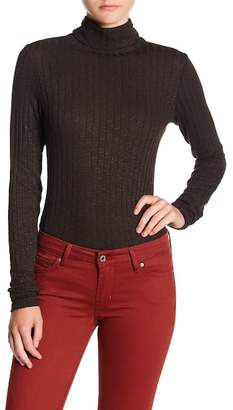 Michael Stars Ribbed Turtleneck Long Sleeve Tee