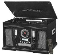 Victrola Wood 7-In-1 Nostalgic Bluetooth Record Player