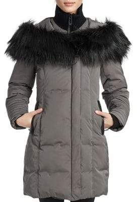 Noize Jessica Faux-Fur Shawl Collar Hooded Jacket