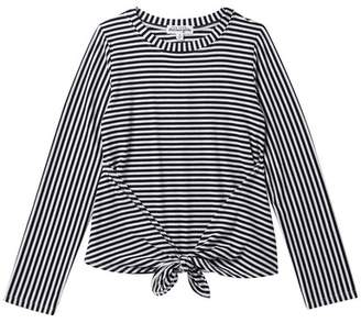 Ten Sixty Sherman Long Sleeve Front Tie Long Sleeve Shirt (Big Girls)