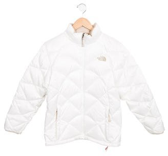 The North Face Girls' Quilted Down Jacket $95 thestylecure.com
