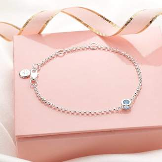 Molly Brown London March Aquamarine Birthstone Bracelet