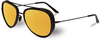 Vuarnet Edge Stainless Steel & Acetate Pilot Sunglasses, Black/Bronze