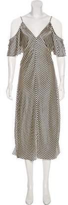 Alexander Wang Cold-Shoulder Maxi Dress