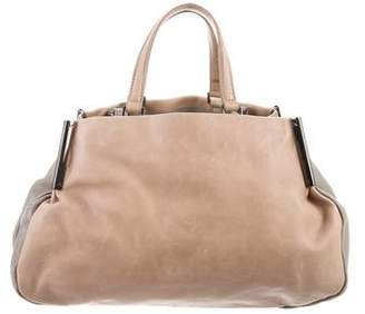 Halston Soft Leather Satchel