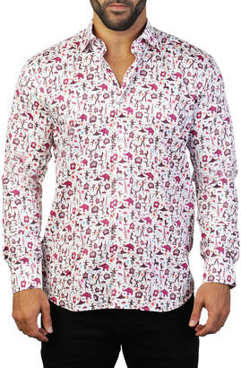 Maceoo Shaped-Fit Funky Circus Sport Shirt