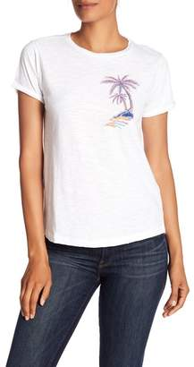 Lucky Brand Embroidered Palm Tree Tee