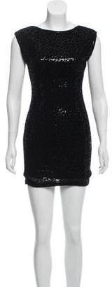 Alice + Olivia Sequined Bodycon Mini Dress