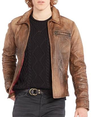 Polo Ralph Lauren Leather Zip Jacket $1,295 thestylecure.com