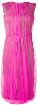 Prada pleated tulle midi dress