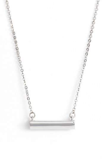 STELLA VALLE Heart Shaped Bar Pendant Necklace