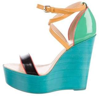 Christian Louboutin Patent Leather Platform Wedges