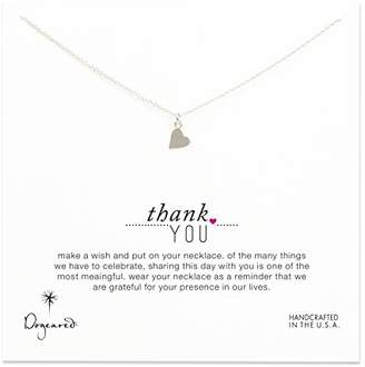 Dogeared Bridal Thank you Sterling Silver Sideways Heart Necklace 40.64cm with 5cm Extender