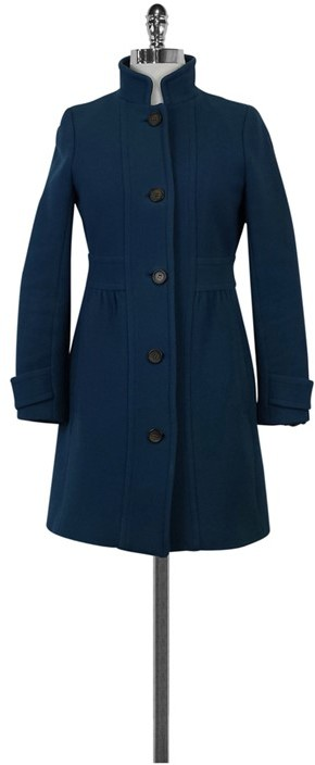 J. Crew Teal Double Cloth Coat
